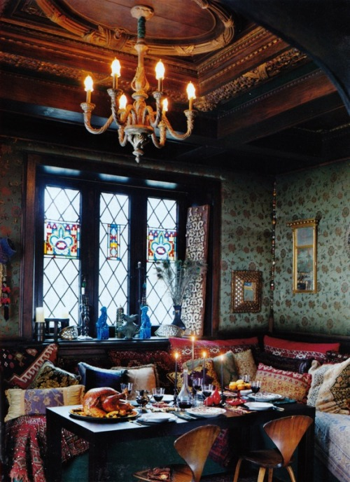 My Bohemian Home ~ Dining Rooms  Holy Crackers, this is fabulous! interioralchemy:  (via bohemianshoebox)