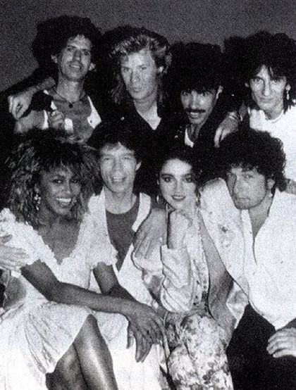 Keith Richards, Darryl Hall, John Oates, Ron Wood, Tina Turner, Mick Jagger, Madonna, Bob Dylan