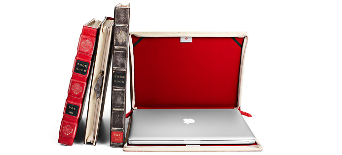 BookBook is the perfect disguise.One of the neatest features of BookBook is the stealthy security it delivers. No one will see your MacBook when it's tucked inside BookBook, even when it's right under their nose. Sitting on a coffee table, dorm room or desk, BookBook looks like a vintage piece of literature, not an expensive laptop. It's a great disguise and a simple way to reduce the risk of your MacBook getting stolen.