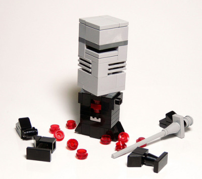 "legoexpress:  The Black Knight. ""merely a flesh wound"" (via hello-zombie : Reasonably Clever Chris)"