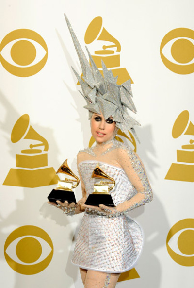 draaagmetohell:   Lady Gaga went home two Grammy trophies out of her five nominations! Not bad.
