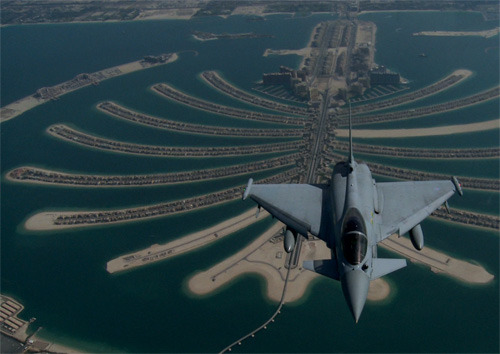 R.A.F. Eurofighter Typhoon over Dubai