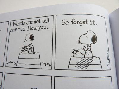 austinkleon:  From The Complete Peanuts 1975-1976 (Vol. 13) by Charles M. Schulz - detail (via fantagraphics)