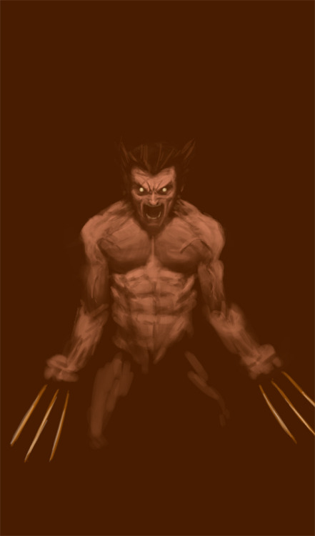 wolverine speed painting. bout 30 min