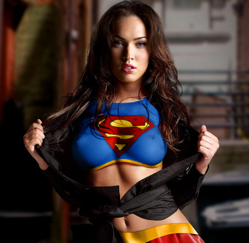 ludonaut:  megan fox + supergirl = win
