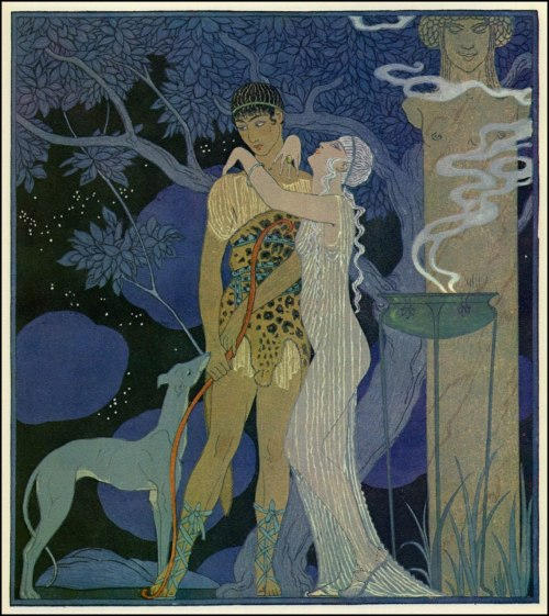 George Barbier, Phaedra and Hippolytus. chryselephantine:   The Pictorial Arts: Mythological Themes