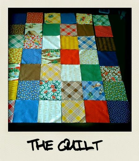 The Quilt! Hey bean, check out what your mom and g-ma have been working on for you. They have put a lot of time and love into this. I think you are going to dig it!