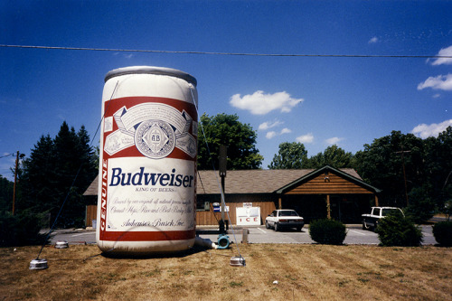 Giant can of Budweiser.