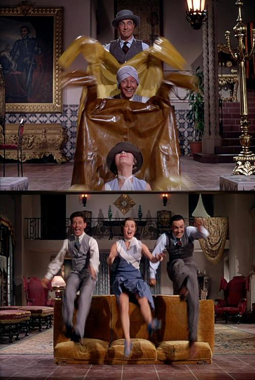 Gene Kelly, Donald O'Connor, & Debbie Reynolds in Singin' in the Rain (1952, dir. Stanley Donen & Gene Kelly)