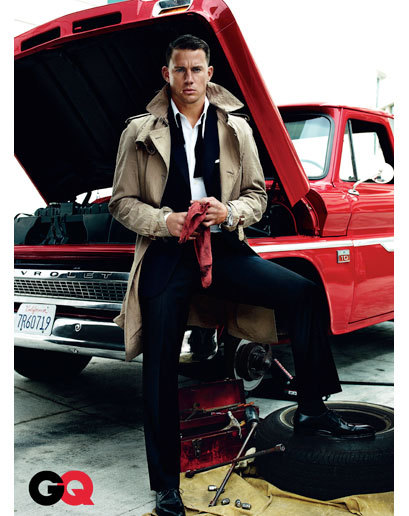 Channing Tatum in the August 2009 issue of GQ (photographed by Mario Testino)