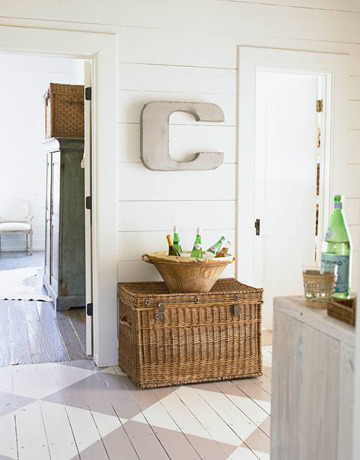 "prettysedaynacar:  happyathome:  Drooling over the ""C"" on this wall.  The perfect accent to the room.  Also like the walls and the colors in the room are amazing.  (posted on Northern Cottage)"