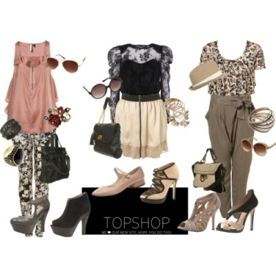 eccentricleartiste:  Everything Topshop.I made 3 outfits because Topshop is fit for all styles depending on how you mix and match the pieces. :) Shopping abstinence. Shopping abstinence.