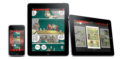 Panelfly and the iPadMobile comics. Imagine holding your entire collection in one hand. Finally, the first half-way compelling reason to own a maxipod. I wonder what kind of effect this kind of device might have on the collectibles market though. I miss tactile.