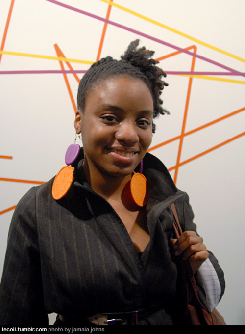 Melissa, artist, at the Museum of Contemporary African Diasporan Art in Bed-Stuy.