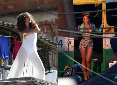 Alicia Keys & Beyonce on the set of 'Put It In A Love Song' in Brazil. Other beautiful pics on Toya's World. I already dig this video! Go Alicia go :-)