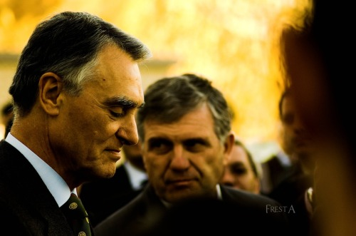 Aníbal Cavaco Silva current President of the Portuguese Republic. by Fresta