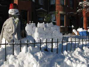 Craigslist and Snowmageddon provide the answer to your DC real estate woes!  $140 1BR Affordable Snow Fort Sublet In Capitol Hill $140 a month, including utilities. 10-minute walk from Union Station and Capitol South metros. Amenities: Wireless internet, doorman with fez, premade snowballs. Available for move-in immediately. (via Craigslist: 1BR Affordable Snow Fort Sublet In Capitol Hill)  Though I can't imagine moving in today! (dcblizzard set)