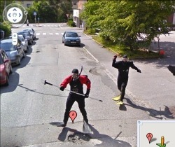 voteforgoats:  annicka:  norwegians with pitchforks attack google street view (via gawker)
