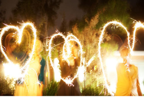sparklers (via ruffled)