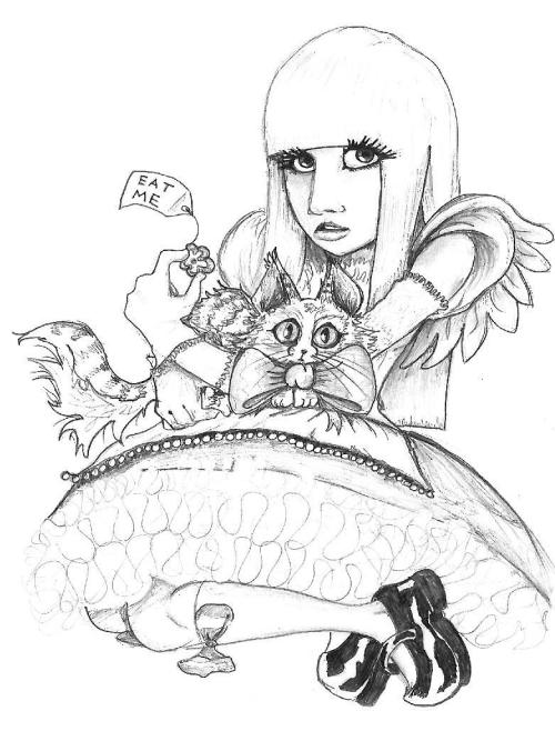 fuckyeahwonderland:  fuckyeahladygaga:  Gaga in Wonderland | submitted by Ramsey Hassan    I was like, DUDE THAT LOOKS LIKE GAGA Then i saw the title *facepalm*