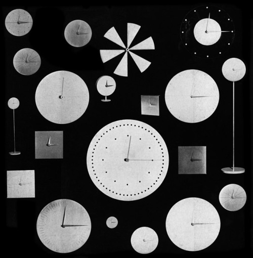 icancauseaconstellation:  Vitra clock collection by Verner Panton 1961  (via geometrica)