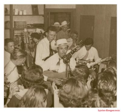 scabboy:  What an awesome photo of Hank Williams & The Drifting Cowboys Band. Before I found this, I had never seen this before.   His son Hank Williams, Jr., daughter Jett Williams, grandson Hank Williams III, and granddaughters Hilary Williams and Holly Williams are also musicians. Rumors are that Parham Henry Williams IV is Hank III's son out of wedlock, who is also following in Hank Williams' footsteps.