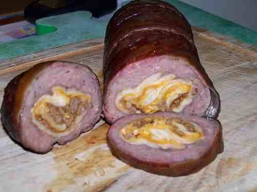 Bacon-Wrapped Burrito Log Taco Bell Cheesy Double Beef Burritos stuffed inside a sausage log wrapped in bacon. (submitted by Barney Stinson)