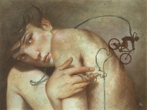 Tran Nguyen. I'm kinda in love with these. I just ran across her work, and I am throughly entranced!    http://studentpages.scad.edu/~tnguye25/
