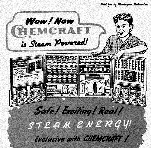 Steam Powered Advertisement Paid for by Remington Industries in 1935