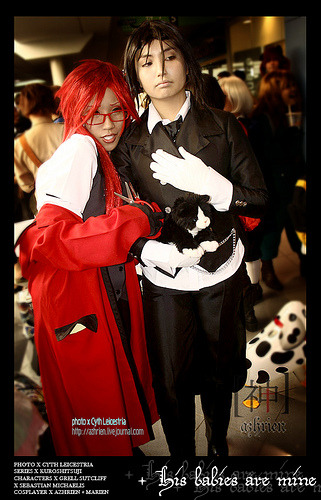 Grell Sutcliff and  Sebastian Michaels