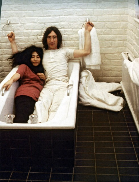 Interviewer:Why can't you be alone without Yoko? John Lennon:But I can be alone without Yoko, but I just have no wish to be. There's no reason on earth why I should be alone without Yoko. There's nothing more important than our relationship, nothing. And we dig being together all the time. Both of us could survive apart but what for?I'm not going to sacrifice love, real lovefor any whore or any friend or any business, because in the end you're alone at night and neither of us want to be. and you can't fill a bed with groupies. It doesn't work. I don't want to be a swinger.I've been through it all and nothing works better than to have someone you love hold you.
