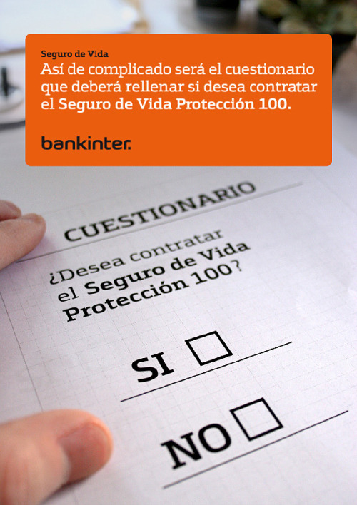 Bankinter - Seguro 100 Art direction and photography.