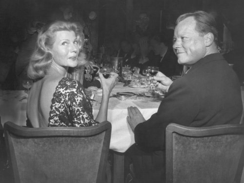 Rita Hayworth with Mayor of Berlin and future Chancellor of the Federal Republic of Germany Willy Brandt at the Berlin Film Festival, 1959 Photo Gallery: 60 Years of Berlinale - Der Spiegel