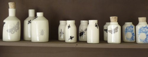 "Now at industtrees: Alexx Boisjoli's porcelain bottles.  ""Utilizing advanced techniques in design, production and finishing, Alexx develops items unique in character and functional in their simplicity. His direct focus is creating domestic objects that stand out in your space but also feel good in the hand."""