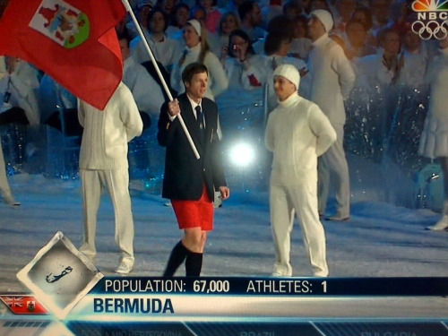 monkeyknifefight:  fakemustache | inothernews:  Bermuda, we love your shorts.  Okay, this is the cutest thing ever. You go, lone Bermuda guy in your sassy pants.