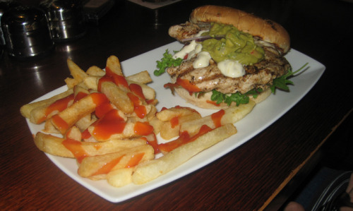 Shakespeare hotel, 200 Devonshire Street, Surry Hills This is their chicken burger, looks like grilled goodness, this was a friends burger so i didnt sample it… Deliciousness Rating - Price: $10 (all meals are $10)