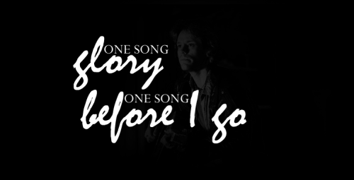 - One Song Glory