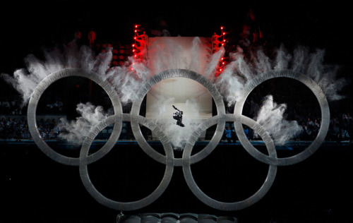 Amazing photo from the opening ceremony of Vancouver Winter Olympics.