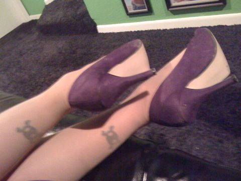 My lil feet are ready to slip out of these heels