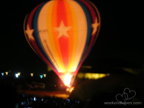 Hot Air Balloon Night Glow at the 15th Philippine International Hot Air Balloon Fiesta