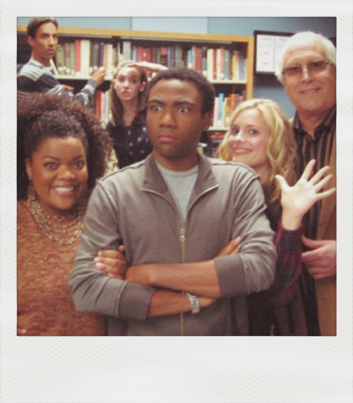 Community Cast: Donald Glover,Danny Pudi,Alison Brie,Chevy Chase ,Yvette Brown and Gillian Jacobs.