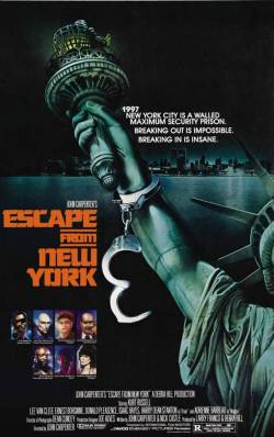 cinemetropolis:  Promotional Poster, Escape From New York (John Carpenter, 1981)