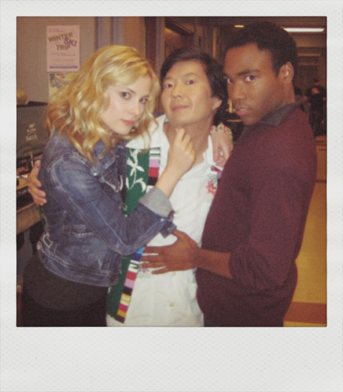 Gillian Jacobs,Dr Ken and Donald Glover.
