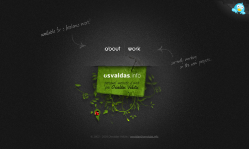 osvaldas.info / professional freelancer web designer & developer Osvaldas Valutis