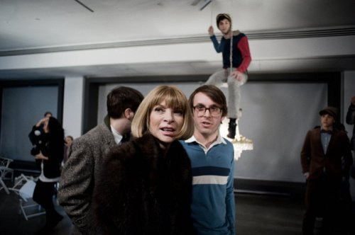 Anna Wintour with Scott Sternberg at Band of Outsiders A/W 10 © Shawn Brackbill