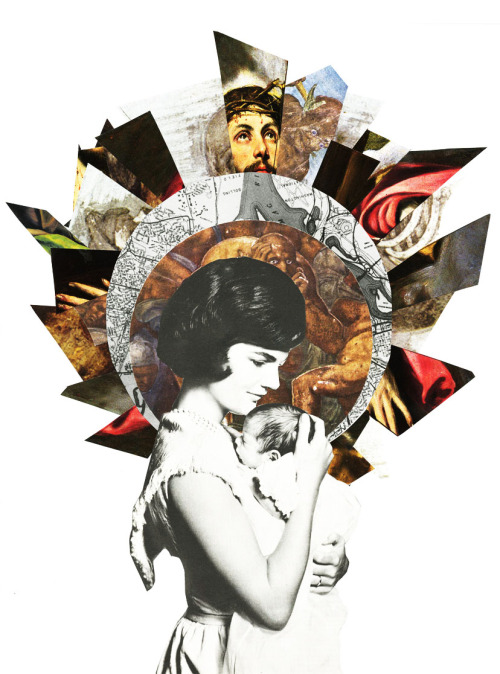 Saint Jackie ( collage and litho)