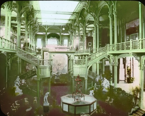 Paris Exposition: unidentified interior view, Paris, France, 1900 (via Brooklyn Museum)