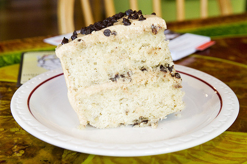 omgsexyfood:  Elvis cake Banana chocolate chip cake with peanut butter frosting  uhhhh the tags say it all. status: to make