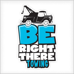 Be Right There Towing - Logo Design, Name Creation