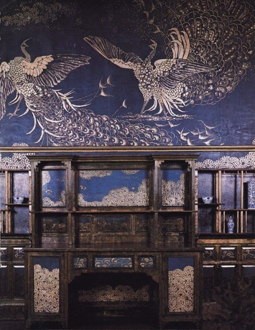filledwithroses:  meowdici:  azorica:  The Peacock Room, Freer's house, Washington, James Abbott McNeill Whistler.  (via mystic-lady)